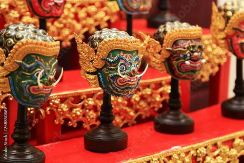 Khon mask (Thailand Heritage Mask) demons charactor mask for