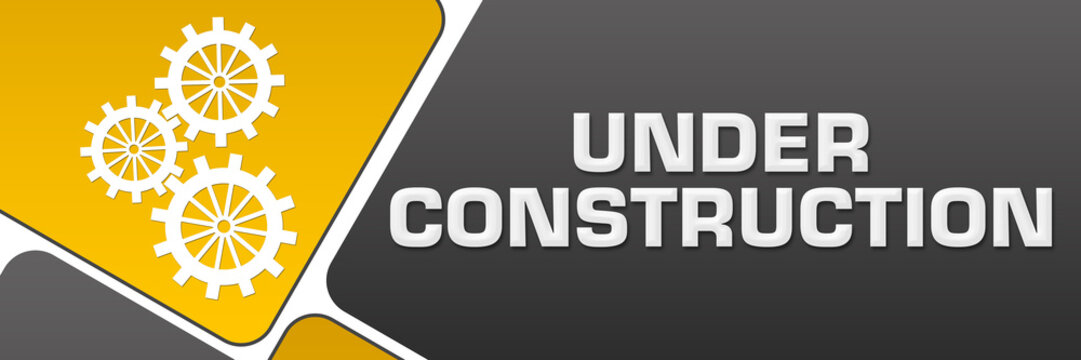 Under Construction Yellow Grey Rounded Squares