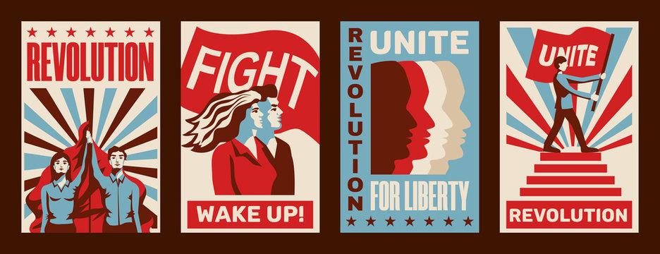 Revolution Posters Set