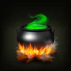Witch Pot On Fire
