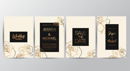 Premium luxury wedding invitation cards