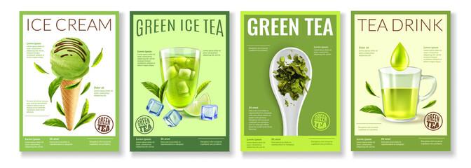 Green Tea Posters Set