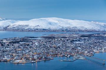Ausblick vom Hausberg über Tromso