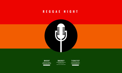 Reggae Night Poster Template