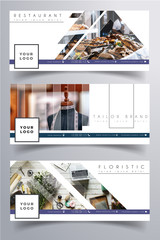 Facebook small business corporate small business cover clean white design template. Photo not included