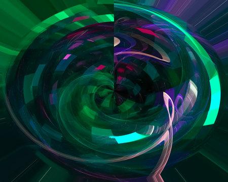 abstract digital fractal, fantasy