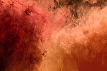 Modern Art Wasserfarb-Verlauf rot, orange