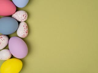 Fotobehang Colorful Easter eggs.
