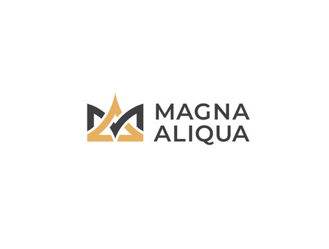 Premium crown logo. Combined letters MA or AM. Monogram of two letters A&M or M&A. Luxury, simple, minimal and elegant crown logo design. Vector logotype template.
