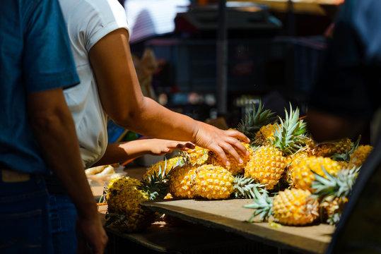 Pineapples, Saint Paul market place, Reunion Island
