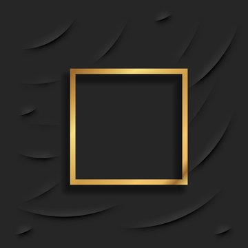 Gold Square Frame or Golden Luxury Rectangular Border