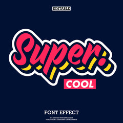 super cool font with simple layer style, modern brush script font for logotype and headline design, funky text effect with cool design style