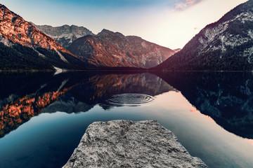 Mountain Lake in Austria Wall mural