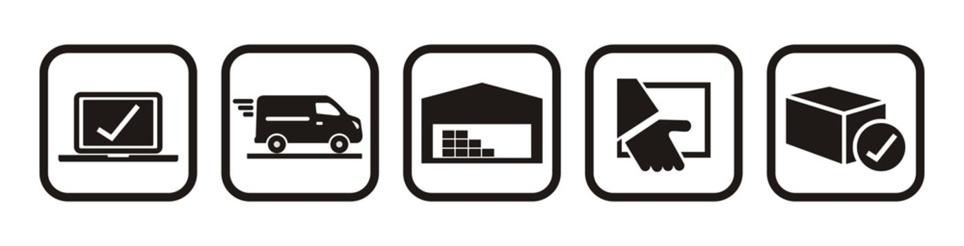 package tracking online purchase, web vector icons
