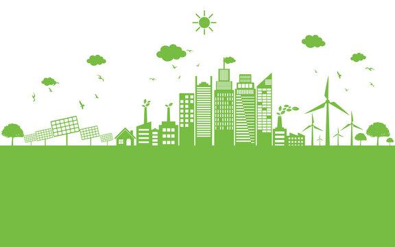 Green ecology City environmentally friendly