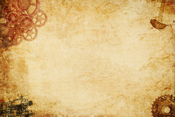 steampunk paper background