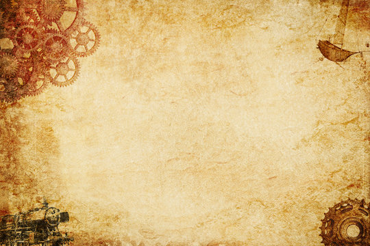 steampunk paper background