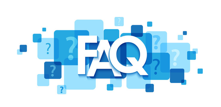 FAQ colorful typography banner