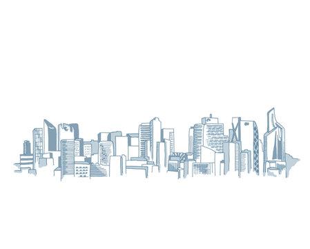 Paris La Defense City Skyline