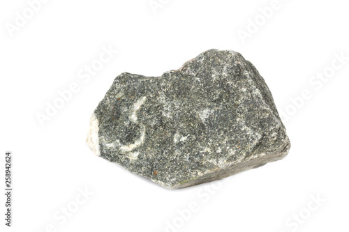 granite stone From industrial plants isolate on white background