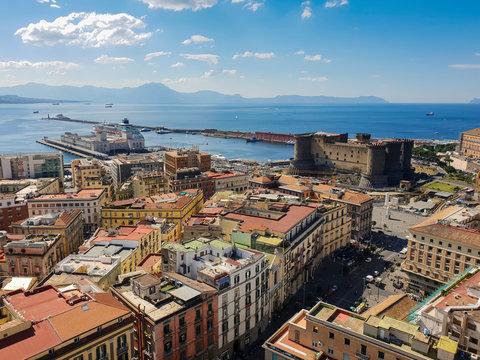 Naples, Italie, vue en hauteur sur la ville