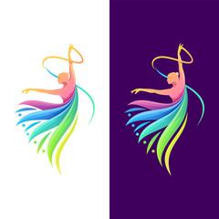 dancing color logo design