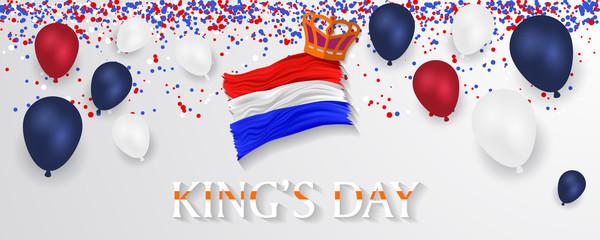 King's Day Celebrate Vector Design - King's Birthday in the Netherlands. Fototapete