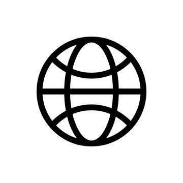 Web icon vector. Web icon page symbol for your web design. Internet world vector
