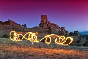 Castle of Zafra. Game of Thrones, Tower of Joy. Hombrados, Campillo de Dueñas, Guadalajara, Castilla La Mancha, Spain, Europe