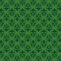 Modern professional pattern ornament in cannabis theme