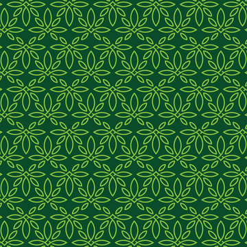 Modern professional pattern ornament in cannabis theme