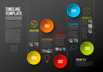 Timeline Infographic with Circular Elements