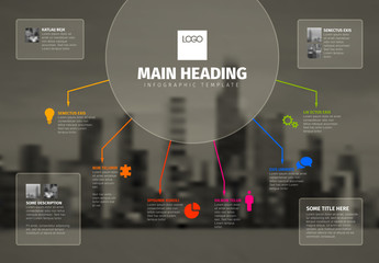 Infographic with Background Image Placeholder