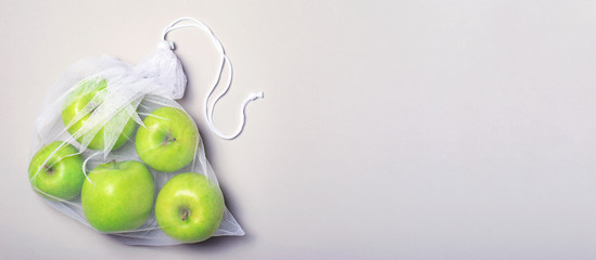 Apples in Mesh Bag, Eco Friendly Bag, Zero Waste Concept