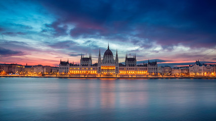 Keuken foto achterwand Boedapest Budapest. Panoramic cityscape image of Budapest, Hungary during beautiful sunrise.