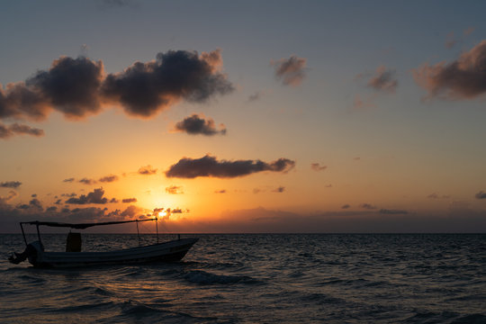 Sonnenuntergang auf Holbox