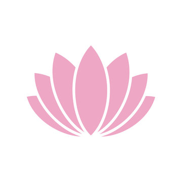 Lotos flower icon on background for graphic and web design. Simple vector sign. Internet concept symbol for website button or mobile app.