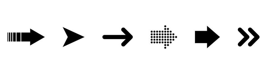 Set of black vector arrows. Arrows vector collection