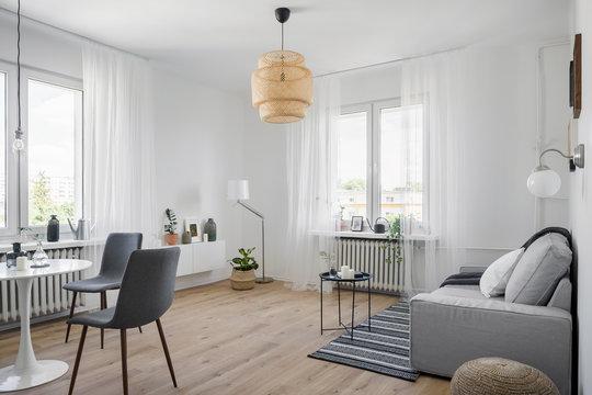 Cozy apartment with sofa