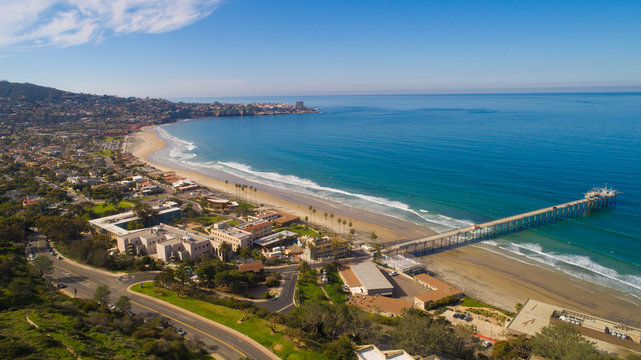 Summer Aerial View of California Beach Coast