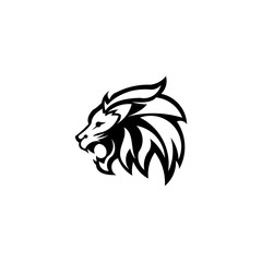 Lion head. Logotype of vector template. inspiration logo lion head