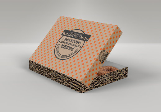 Dozen Donuts Box Mockup