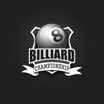 Billiard logo template design