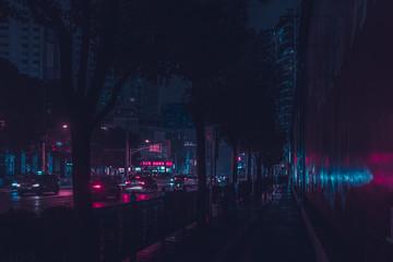 NEON City Traffic Fotomurales