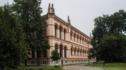 old historic building facade