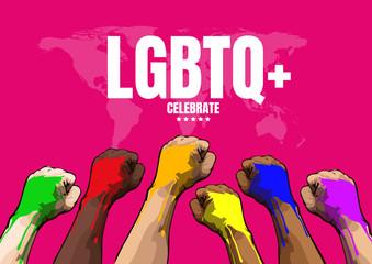 LGBTQ, Template Background, Vector Illustration.