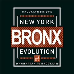 bronx typography design-Vector for t shirt,vector illustration - Vector
