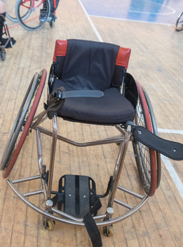 basketball and rugby wheelchair for handicapped person