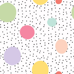 Printed roller blinds Retro sign cute seamless kids pattern
