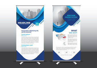 Roll Up template vector illustration, Designed for style applied to the expo. Publicity banners, business model vertical.